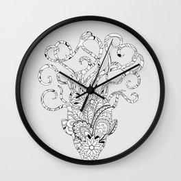 floral mind Wall Clock