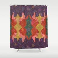redhead Shower Curtains featuring Redhead by Liane Ricci Art + Design