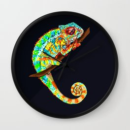 Color Changing Chameleon Wall Clock