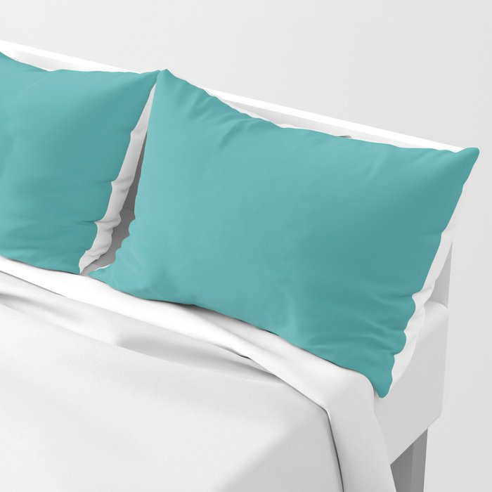 Cheapest Solid Dark Turquoise Color Pillow Sham