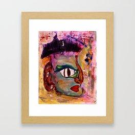 Mr. Strange: Acrylic Abstract Painting of a weird man!!! Framed Art Print
