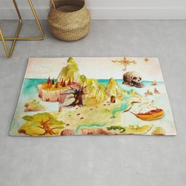Peter Pan Map Rug