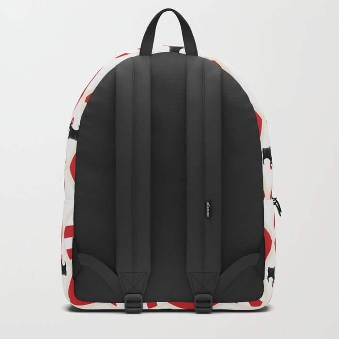 Scottie Dog Christmas Pattern Backpack
