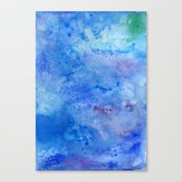 Mariana Trench Watercolor Texture Canvas Print