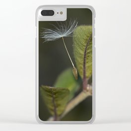 Dandelion seed Clear iPhone Case