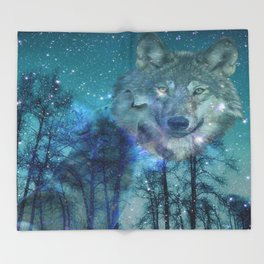 The Wild is Calling Throw Blanket