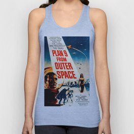 Plan 9 from Outer Space, vintage movie poster Unisex Tank Top