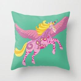 Pegacorn the unicorn pegasus Throw Pillow