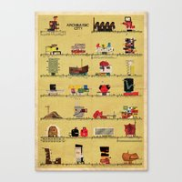 babina Canvas Prints featuring archimusic city  by federico babina