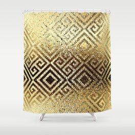 Elegant gold #1 Shower Curtain