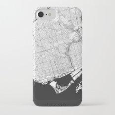 Toronto Map Gray iPhone 7 Slim Case