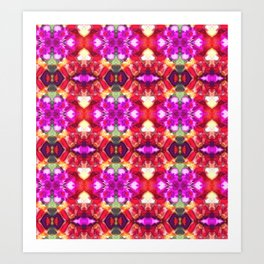 Palace Passion Flower Pattern Design  Art Print
