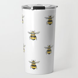 Bee Friends Pattern Travel Mug