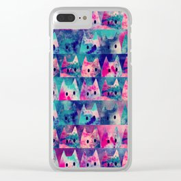 cats-42 Clear iPhone Case