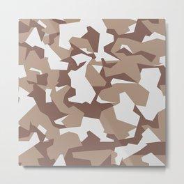 Camouflage Splinter Pattern Desert Metal Print