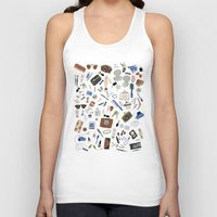 girly Tank Tops featuring Girly Objects by Yuliya