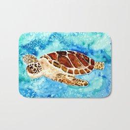 Sea Turtle Painting Bath Mat