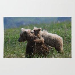 Alaska Grizzly Mother And A Cub In Katmai National Park #Society6 Rug