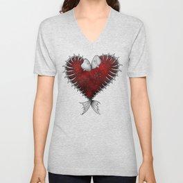 Heart - Fish Unisex V-Neck