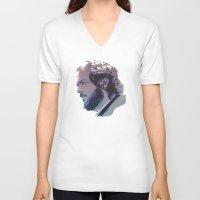 stanley kubrick V-neck T-shirts featuring Kubrick by Davidjonesart