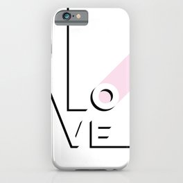 True Love Never Ends - black, white & pink #love iPhone Case
