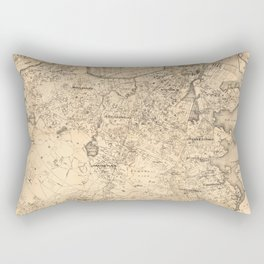 Map of the City of Boston and Vicinity (1907) Rectangular Pillow