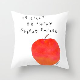 Positive Quotes from A Happy Apple Throw Pillow