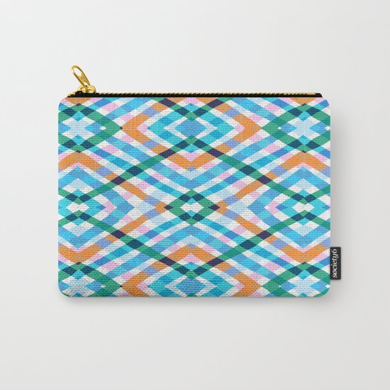The rustic link based on tenun ikat Carry-All Pouch