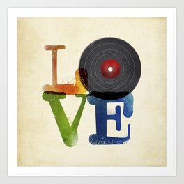 Love is Music Art Print