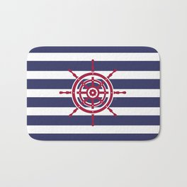 AFE Nautical Red Helm Wheel Bath Mat