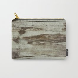Off White wood Carry-All Pouch