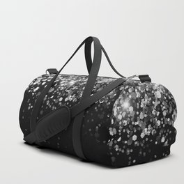 Silver Gray Black Glitter #3 (Faux Glitter - Photography) #shiny #decor #art #society6 Duffle Bag