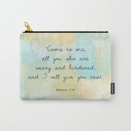 Come to me all you who are weary, Matthew 11:28 Carry-All Pouch