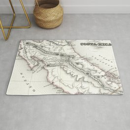 Vintage Map of Costa Rica (1850) Rug