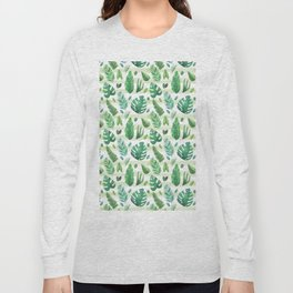 Tropical Palm Tree Leaves Long Sleeve T-shirt