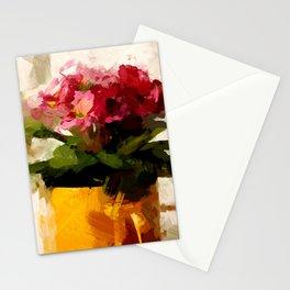Gelber Becher mit Blumen Stationery Cards