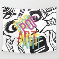 popart Wall Tapestries featuring PopArt V by Ingunn Ro