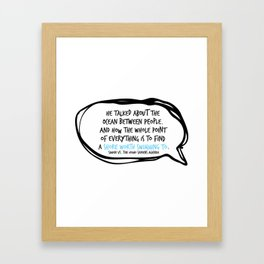 Simon Vs. Quote Ocean Framed Art Print