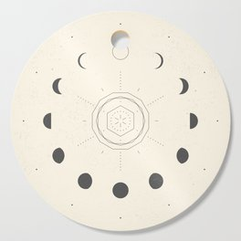 Moon Phases Light Cutting Board