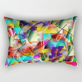 Disco Colors of San Antonio Rectangular Pillow