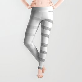 Simply Drawn Stripes Moonlight Silver Leggings