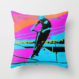 The Bunny Hop - Scooter Stunt Throw Pillow