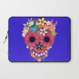 Skull Flowers blue Laptop Sleeve