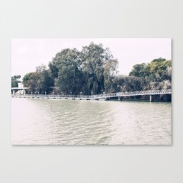 Calm river side | modern landscape photography Canvas Print