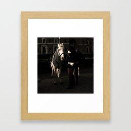 carabiniere e cavallo Framed Art Print