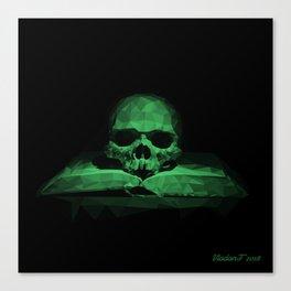 Memento mori - jungle green Canvas Print