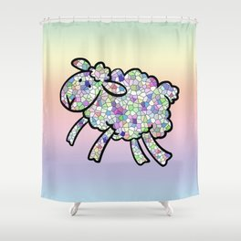Mosaic Lamb Shower Curtain