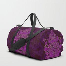 Ganesha Elephant God Purple And Pink Duffle Bag