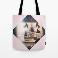 roller derby Tote Bags featuring Roller Derby by Michelle Wenz