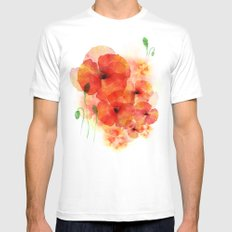 Tall poppies Mens Fitted Tee White MEDIUM